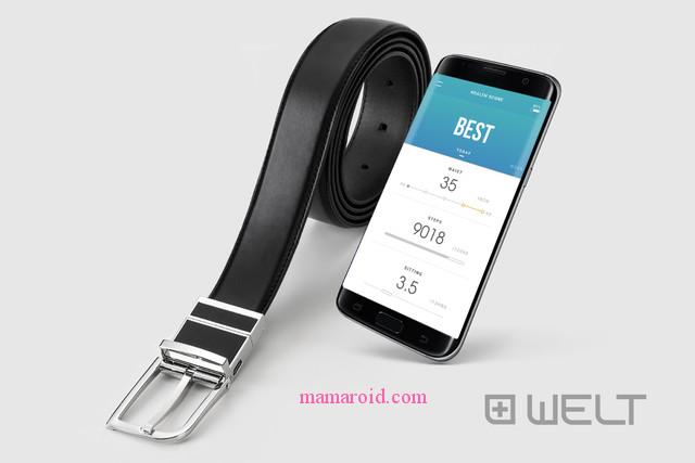 メタボ夫に 健康管理ができるスマートベルト「WELT」で体型、体重チェックを