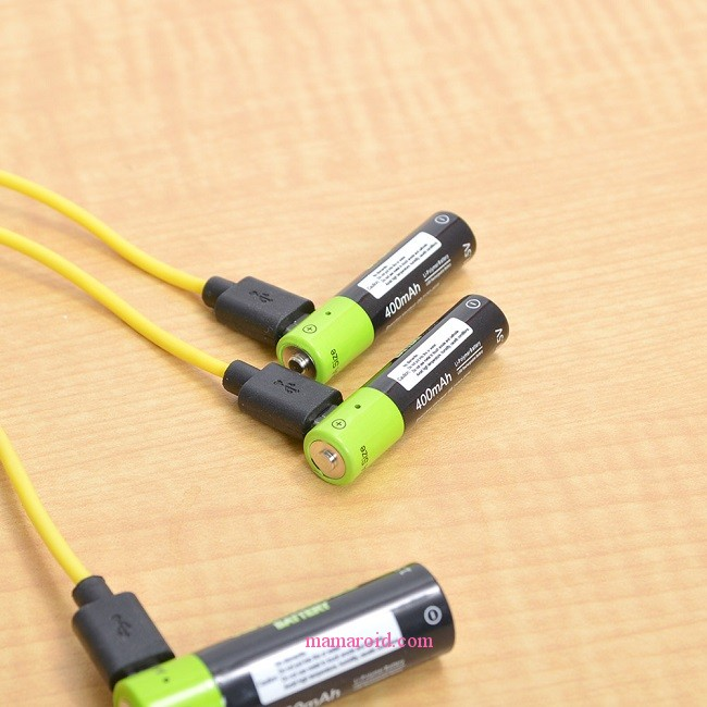 こりゃ、便利!パソコンで電池を充電「USB充電できる乾電池」
