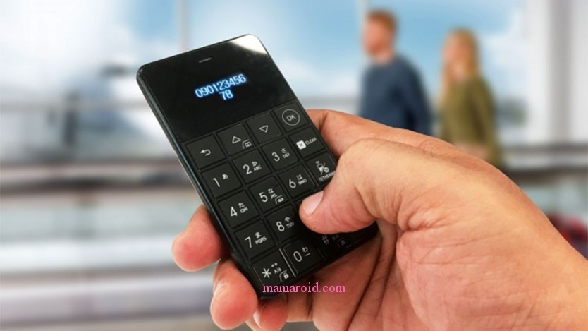 カード型最小携帯 もしかしてネックストラップに入っちゃう?キッズケータイとしても