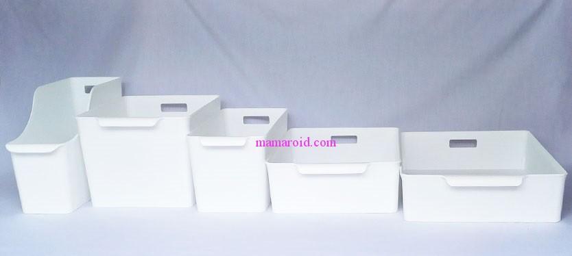 100均セリアの白い収納ボックス「ラッセバスケット」のサイズ