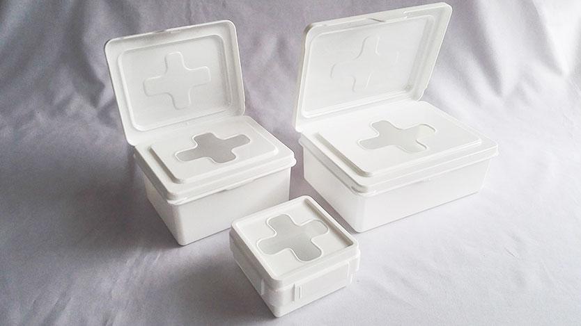 100均セリア・ワッツ 十字ボックスの新商品「ウエットシートボックス」サイズ